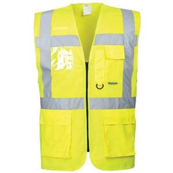 Hi Vis Berlin Executive Waistcoat - Yellow