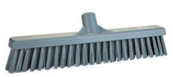"16"" / 410mm Vikan Platform Soft/Hard  Broom - Grey"