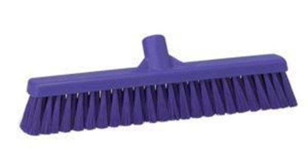 "16"" / 410mm Vikan Platform Soft/Hard  Broom - Purple"