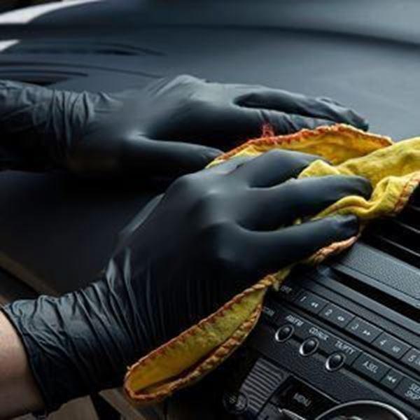 x100 P/Free Nitrile Glove Black - Medium Bold