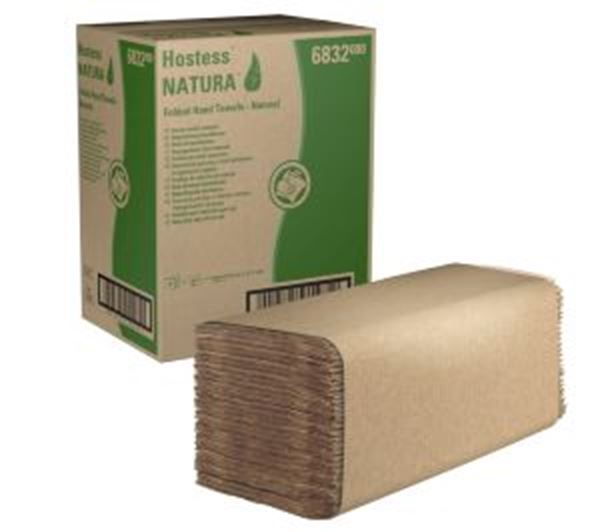 Picture of 6832 Hostess NATURA IFold Hand Towels x1908 - Natural (37x21.6cm)