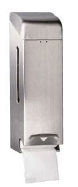 Picture of Dolphin Two Roll Toilet Roll Holder - Satin Stainless Steel