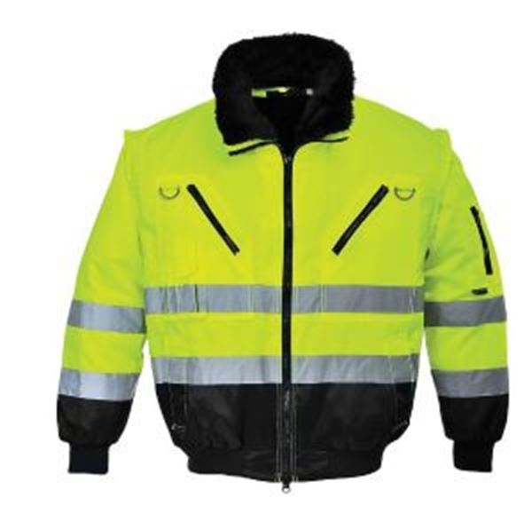 Picture of Hi Vis 3in1 Pilot Jacket - Yellow/Black