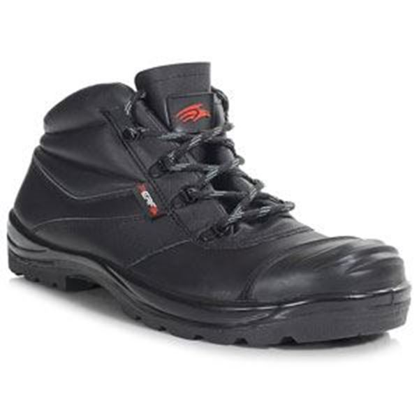 Performance Leather Chukka Safety Boot / Scuff Cap S3 SRC - Black